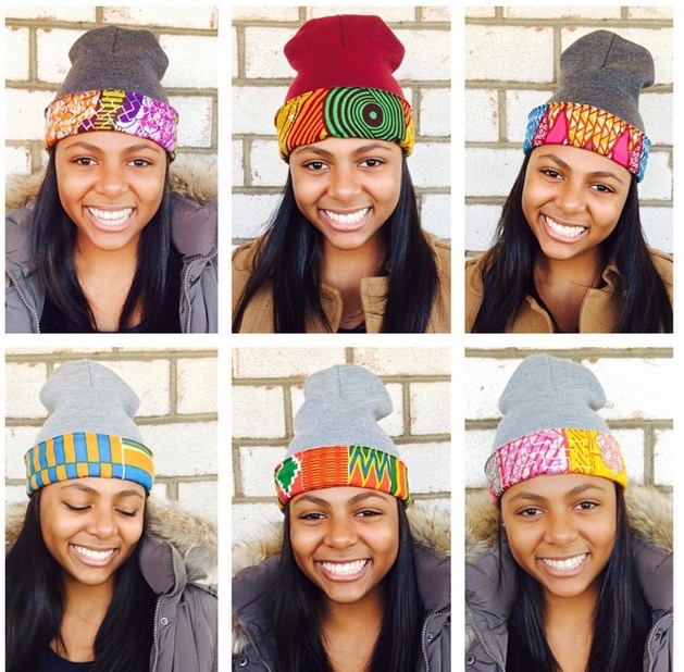 The best hat to spice up your winter look.Shop for these and many more  african print beanies at Dpipertwins.com 8025ad09503